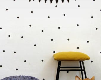 Black Dot Wall Decals,Black Dots Wall Stickers, Polka Dot Wall Decor