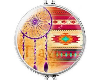 Great connector silver cabochon dreamcatcher dream catcher Indian c10