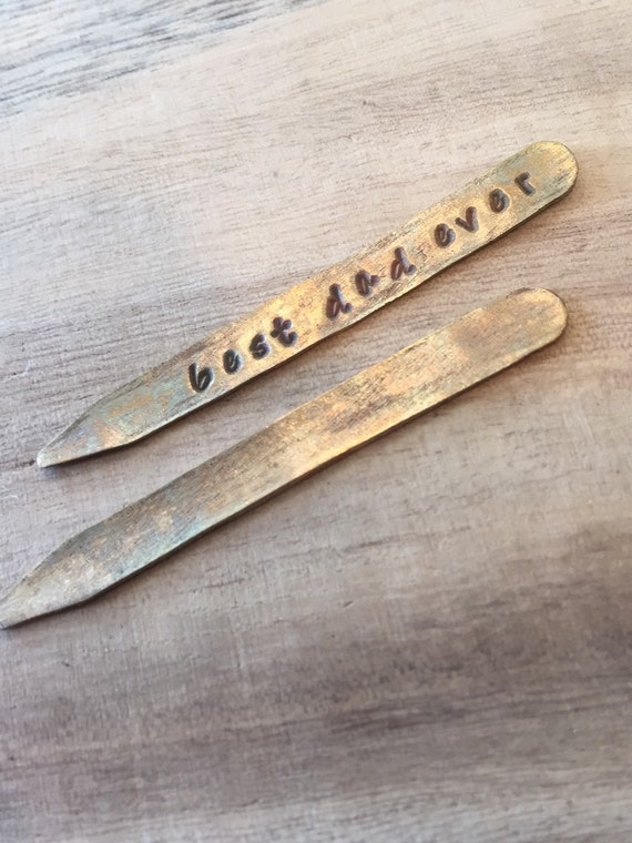 Collar Stays, Shirt Collar Stays, Personalized collar stays, personalized dad gifts, personalized mens gift, gold collar stay, gifts for him