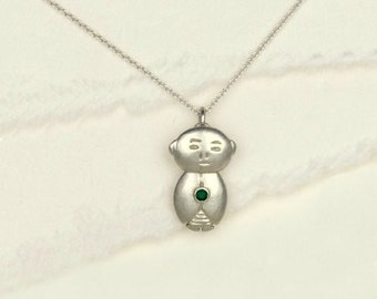 Birthstone Jizo holds a ruby