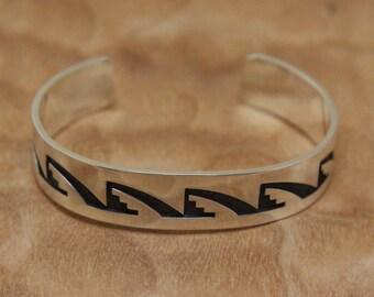 Sterling Silver Hopi Bracelet Darren Seweyestewa