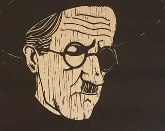 Vintage 1979 Homage Exhibition Poster for Leonard Maurer (1912-1976)