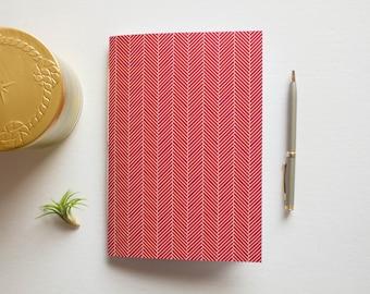prayer journal, writing journal, travel journal, sketchbook journal, small sketchbook, notebook journal, lined journal, herringbone pattern