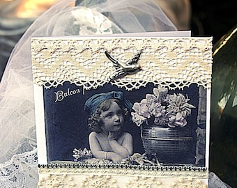 """Romantic card """"dreaming child"""""""