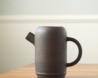 Ceramic Pitcher  [ Stoneware Pitcher, Flower Vase, Handmade pottery, Rustic, Farmhouse ]