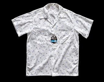 NOS 1950s Atomic Loop Collar Shirt Medium