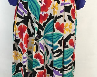 Vintage Tropical Maxi Skirt