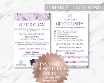 Purple Marble Hair Salon VIP Customer Card Monat Business Cards Monat VIP Customer  Monat Global Marketing Monat Opportunity Card INSTANT