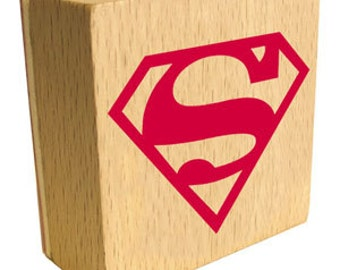 Superman Logo Rubber Stamp