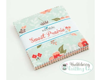 Sweet Prairie, 5 Inch Stacker, Charm Pack, Riley Blake Fabric, Sedef Imer, Down Grapevine Lane, Floral, Quilting Fabric, Cotton Fabric,