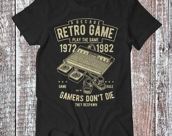 Gamers Don't Die , Gaming Tee , Retro Gamers T-shirt , Gaming Shirt