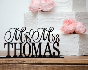 Wedding Sign, Table Sign for Wedding, Mr and Mrs Table Sign for Wedding, Reception Table Sign, Bride and Groom Sign, Head Table Wedding Sign