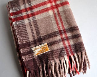 SALE 20% OFF! Homestead Wool Stadium Throw Lap Blanket - Made in USA