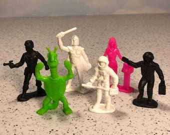 TIM MEE TOYS 1970 vintage mixed lot space patrol galaxy laser team Timmee miniature action figures sci fi science fiction alien monsters