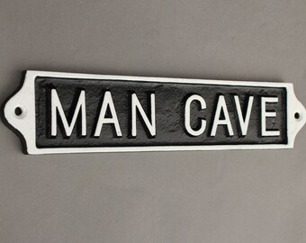 Man Cave Metal : Vintage man cave sign shed garage dad father's day gift