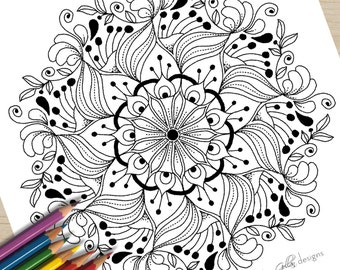 Printable Colouring Page Luscious