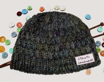 Knit chunky hat, gift for women, merino wool hat, super chunky hat, winter knit hat, woman hat, woman beanie, skull cap, skully, winter hat