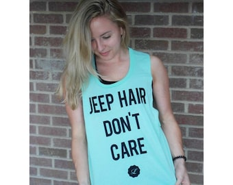 Summer Tank -Jeep Hair Don't Care