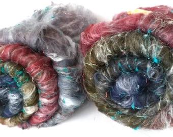 Smoothish Art Batt Set- 'Guthrie, 318-03- 4.6 oz Spinning, Felting, Weaving, Papermaking Fiber