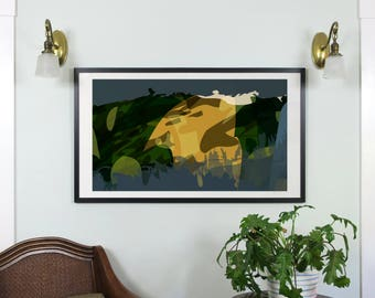 "Abstract Composition: Aspen_04_01h - Contemporary Art - Abstract Design - 46"" x 26"" and 19"" x 13"" - Limited Edition Print"