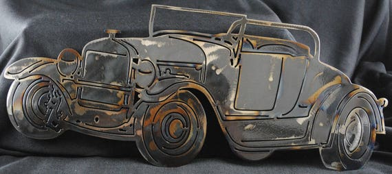 "1927 Ford Model T Roadster 16"", Tin Lizzie, T-Model Ford, Model T, Leaping Lena, Flivver, 1927 Memorabilia, Metal Car Decor, Automotive Art"