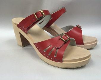 red super high sandal