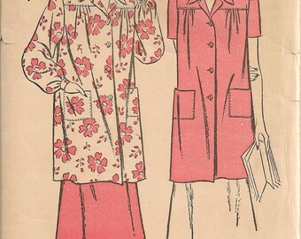 Vintage 1940's Blouse and Skirt Sewing Pattern Advance 4325