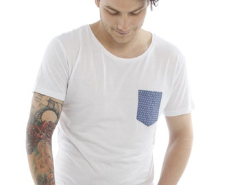 Bamboo Pocket Tee - Blueberry Blue