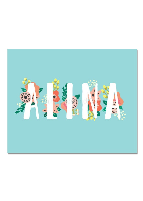 Alina personalized name sign custom name art printable name alina personalized name sign custom name art printable name sign printable art printable wall art birthday party decor baby name sign negle Gallery