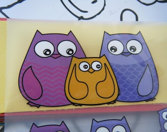 applique patch iron pattern owls, owls, great for repair or clothing customization