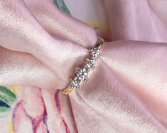 Diamond cluster ring, Forever One Diamond Gold ring, 9ct or 18ct solid Gold and Silver ring, Moissanite ring, Engagement ring.