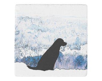 Black Lab Coasters - Black Lab Art 19UPMN - Labrador Coaster - Black Lab Gifts - Art Coasters - Dog Coasters - Coasters For Drinks -