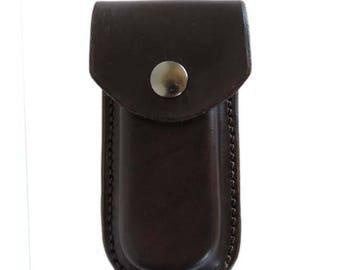 Dark Brown Leather Knife Case