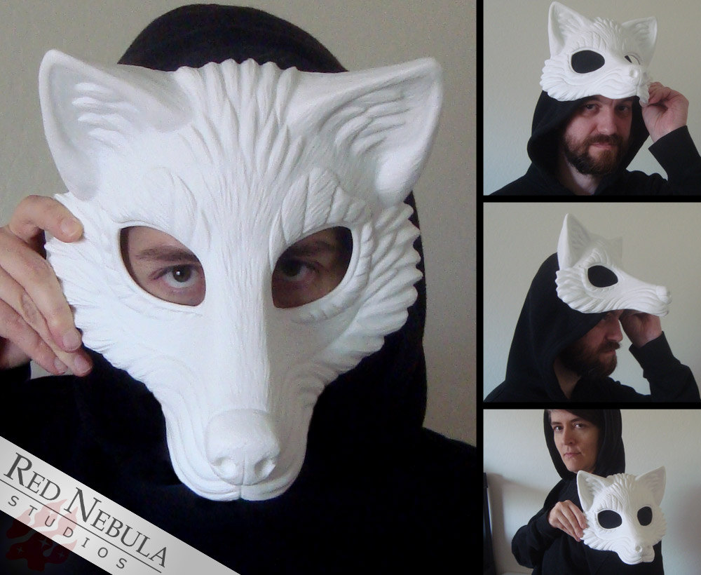 Resin wolf mask blank stylized wolf face mask wolf zoom solutioingenieria Image collections