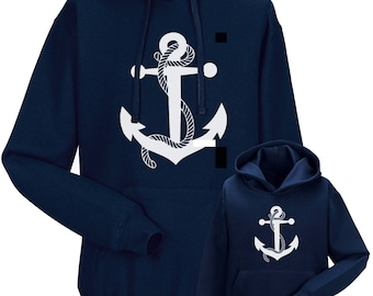 Partnerlook Hoody father child anchor