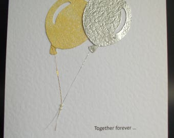 Together Forever - gold and silver balloons