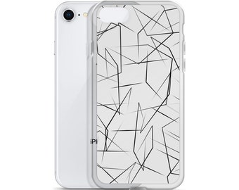 Minimalist Linear B&W Design iPhone Case (designed by MonetXXI)
