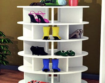 Shoe Storage | Shoe Organization | Lazy Susan | Stores 80+ Shoes | Free Shipping!