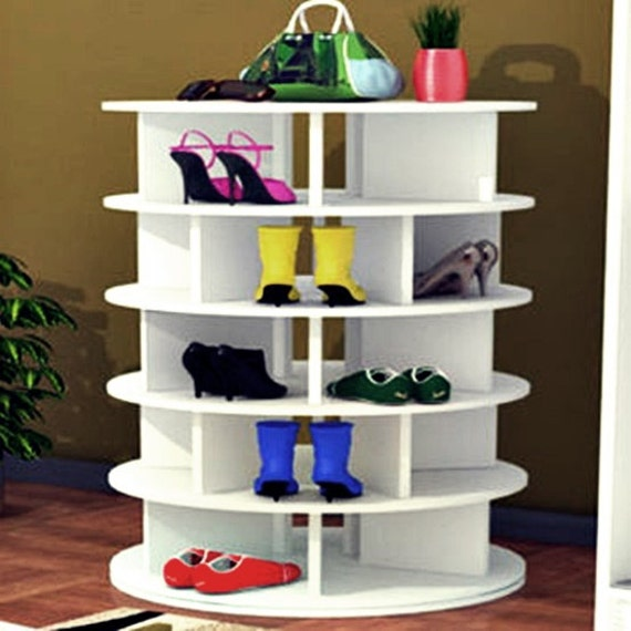 Beau Shoe Rack Shoe Storage Lazy Susan Shoe Organizer
