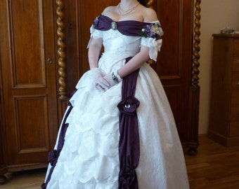 Lace Mid Victorian Sissi style ball gown