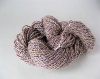 handspun alpaca yarn//light purple alpaca yarn//dk weight yarn//thiessensfarmstore//soft alpaca yarn//handspun yarn