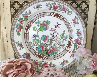 """Beautiful Doulton Dresden Plate """"Indian Tree""""-1860's"""