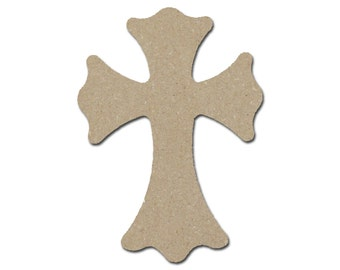"Unfinished Wood Cross Wooden Crosses 11"" Inch Tall Paintable MDF Crafts  Part MC11-129"