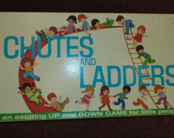 Vintage 1974 Chutes and Ladders Milton Bradley Complete with Game Pieces!