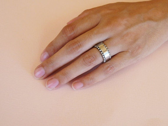 Cool Men\'s Spinner Ring Tank Stainless Steel Ring Wide