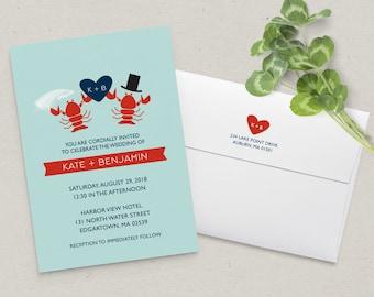 Lobster Wedding Invitation