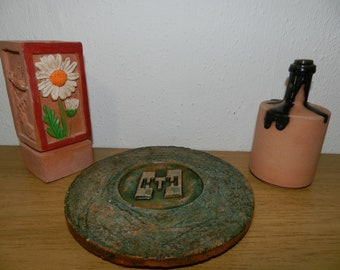 Stengods Pagfeldt (Lars) Sweden 3 stucco pieces vases and