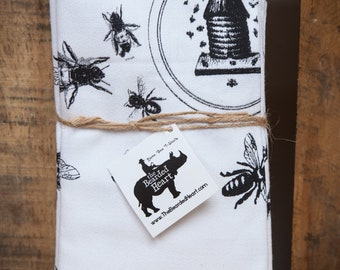 Cotton Napkin Set of Four - Bees