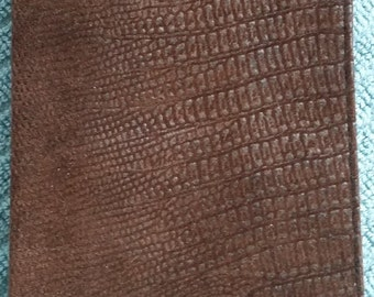 Embossed Suede Checkbook Cover