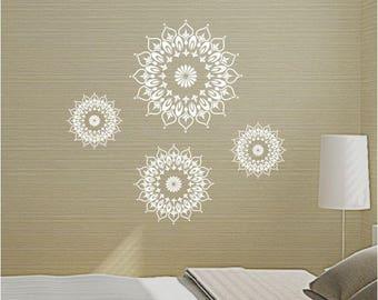 Mandala vinyl wall art sticker decal transfer mural easy application 2704